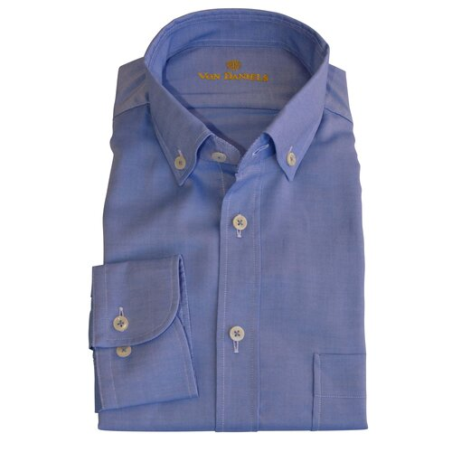 Button-Down Casual Hemd in Qxford/BlauSlim-Fit