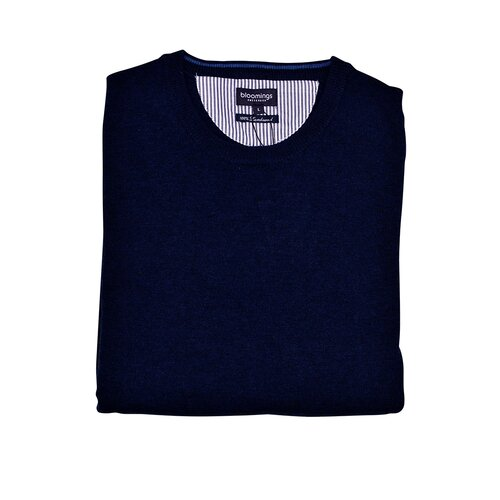 O-Neck Lambswool-Pullover/ Navy 3 XL