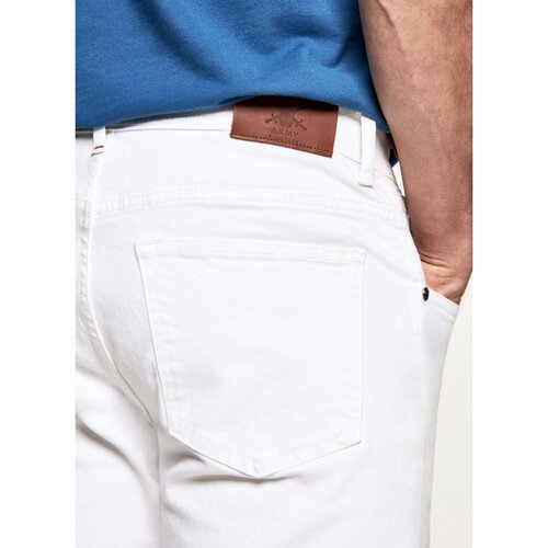 5 Pocket Hose inwhite denim