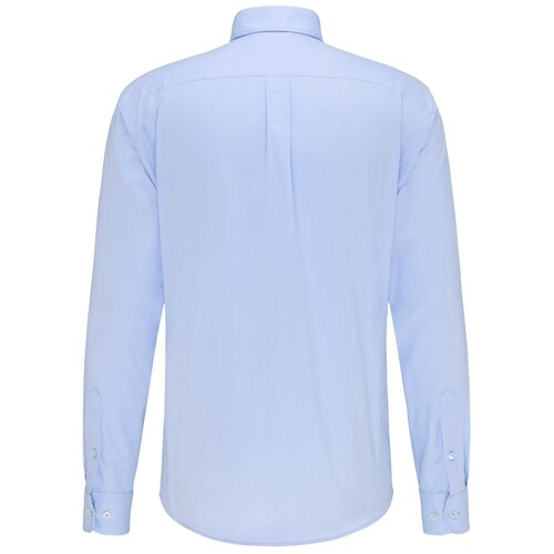 Button-Down Hemd, Oxford in Hellblau