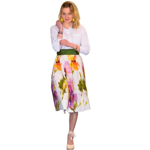 Hemd-Kleid Elenat in Watercolar Floral